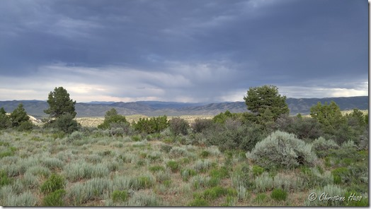 Watching thunderstorms in eastern Nevada.
